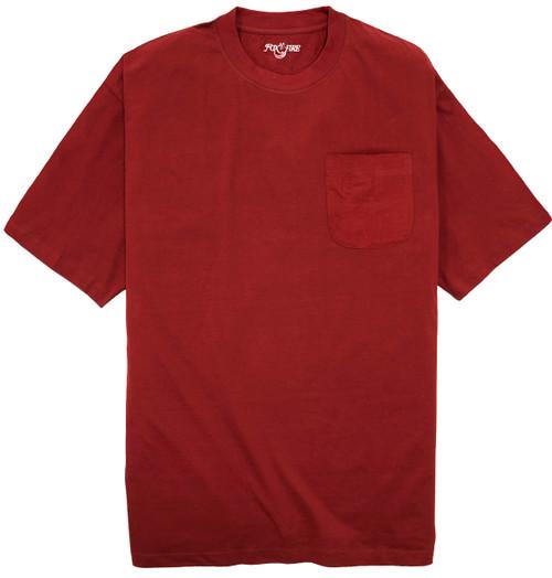 Foxfire BURGUNDY Pocket T-Shirt