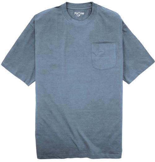 Foxfire HEATHER BLUE Pocket T-Shirt