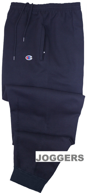 Navy Champion Midweight Fleece Jogger Pants