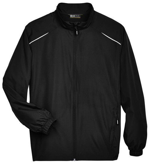Black Lightweight Full Zip Windbreaker Jacket