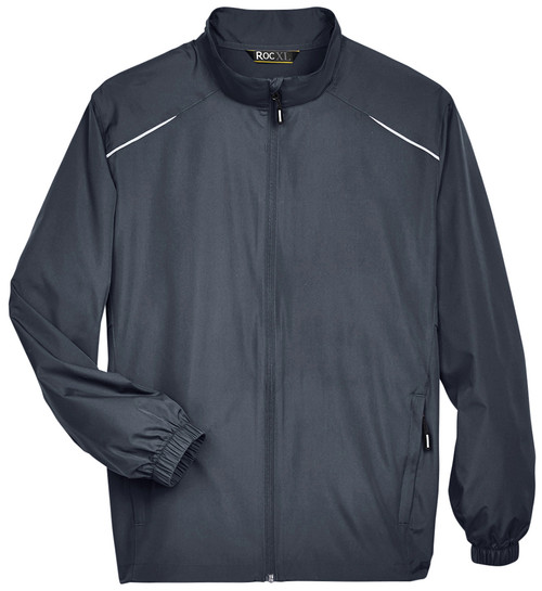 Dark Gray Lightweight Full Zip Windbreaker Jacket