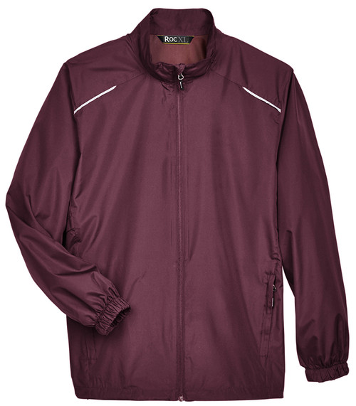 Burgundy Red Lightweight Full Zip Windbreaker Jacket