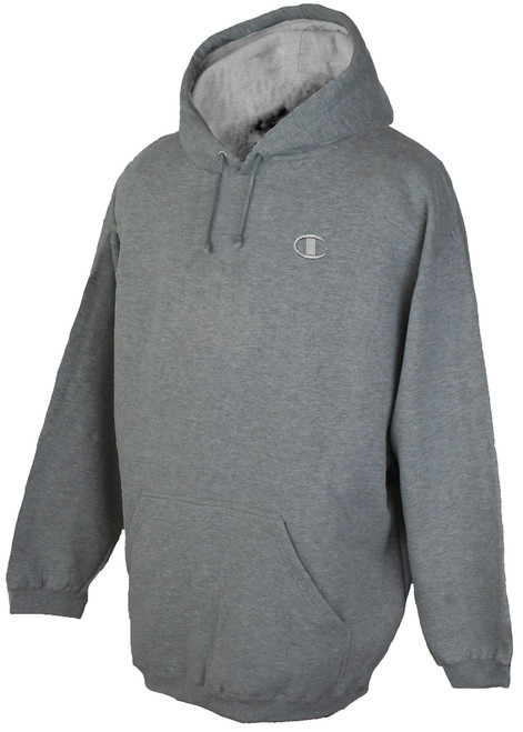 Champion Fleece Pullover Hoodie - Solid Logo 3XL - 5XL 2XLT 3XLT GRAY #319C