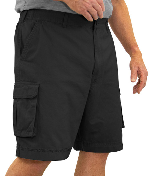 ROCXL BLACK Cargo Shorts Expandable Waist