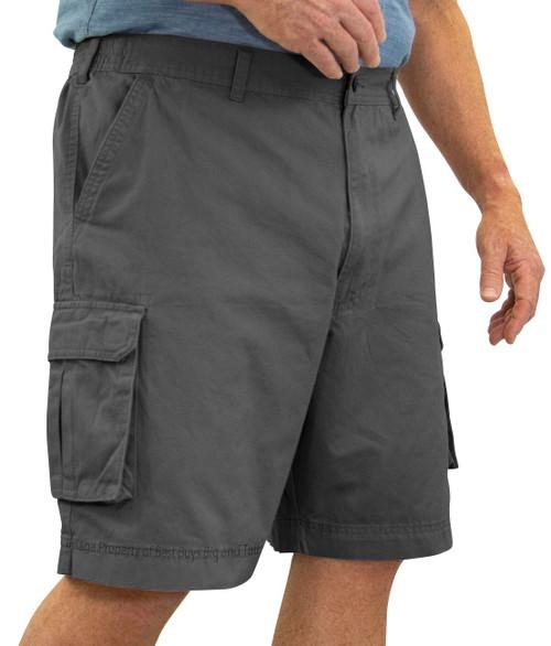 ROCXL GRAY Cargo Shorts Expandable Waist