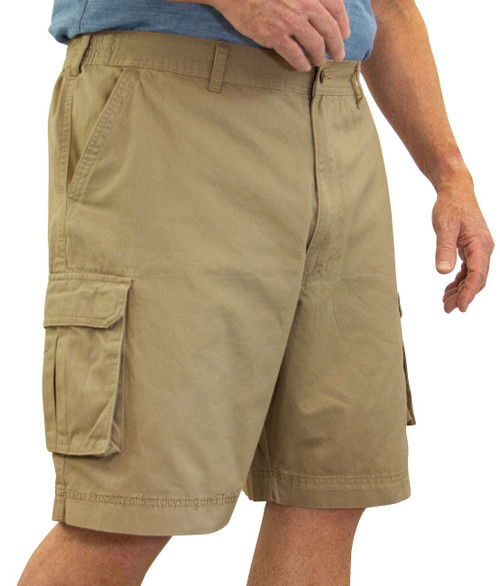 ROCXL KHAKI Cargo Shorts Expandable Waist