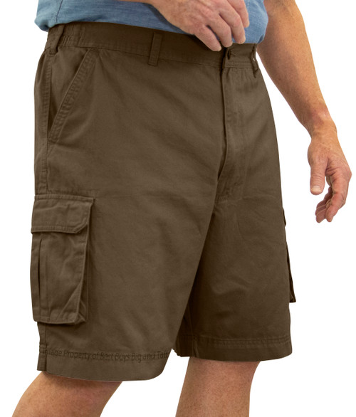 ROCXL BROWN Cargo Shorts Expandable Waist