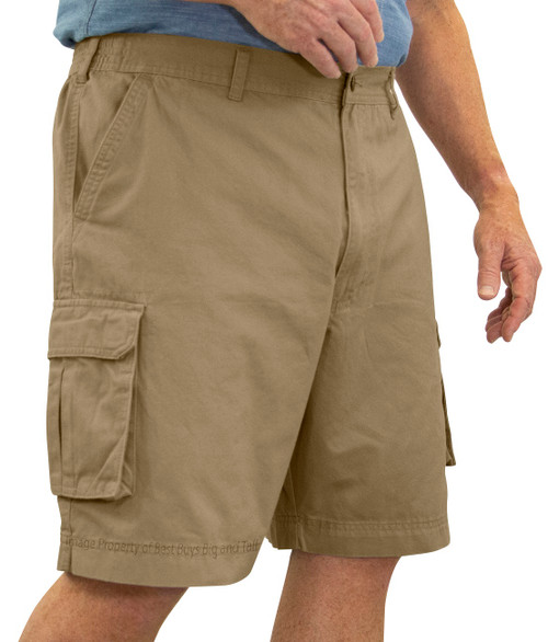 ROCXL KHAKI BROWN Cargo Shorts Expandable Waist