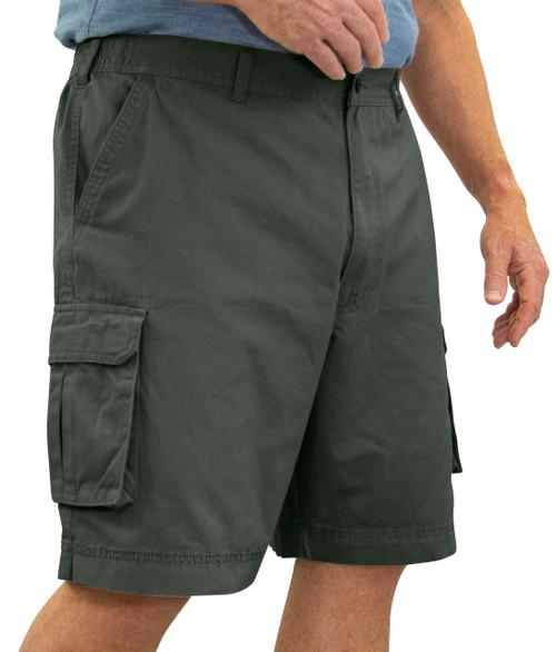 ROCXL GRAY SAGE Cargo Shorts Expandable Waist