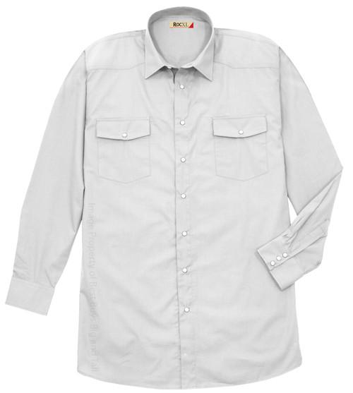 White ROCXL Long Sleeve WESTERN SHIRT Lightweight