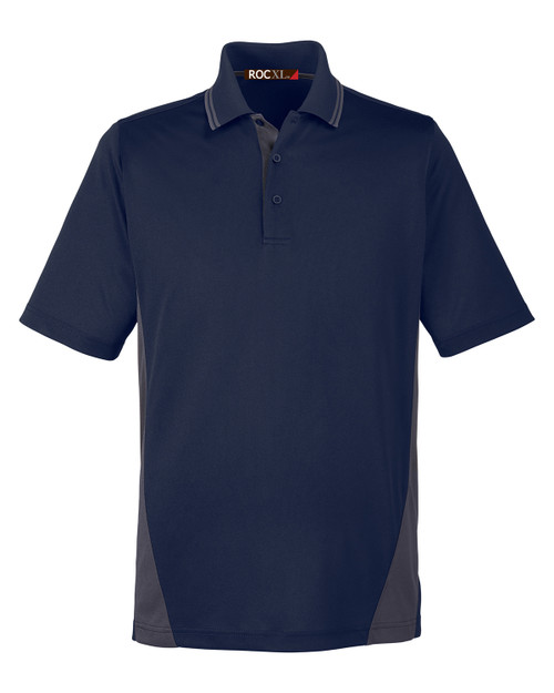 ROCXL Color Block POLO Shirt NAVY/Charcoal