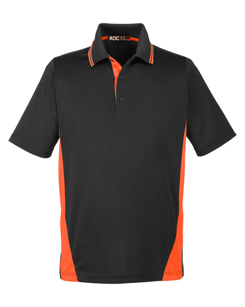 ROCXL Color Block POLO Shirt BLACK/Orange