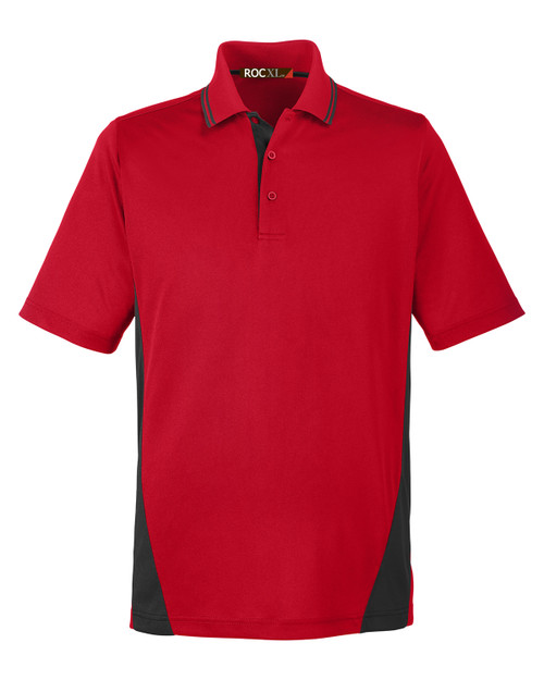 ROCXL Color Block POLO Shirt 3XL 4XL 3XLT 4XLT RED/Black #330E