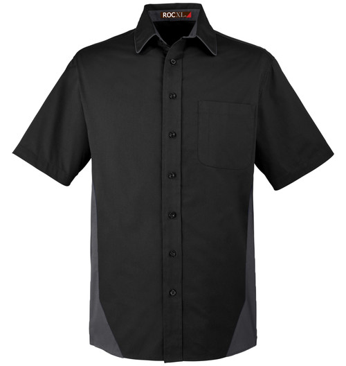 Black ROCXL Short Sleeve Work Shirt