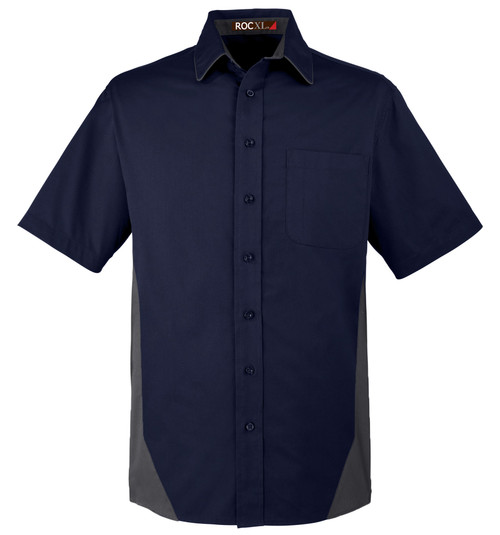 ROCXL Short Sleeve Work Shirt 2XL-6XL 2XLT-4XLT NAVY/Charcoal #911B