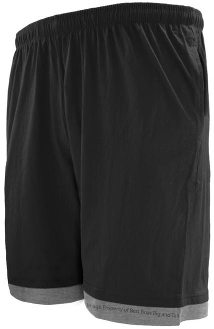 Greystone Two-Tone Jersey Shorts BLACK/Gray