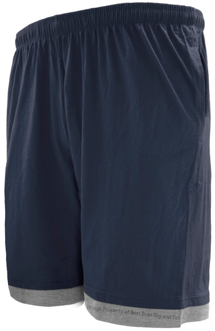 Greystone Two-Tone Jersey Shorts NAVY/Gray 3XL - 10XL  #738B