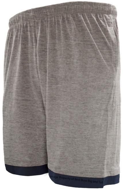 Greystone Two-Tone Jersey Shorts GRAY/Navy