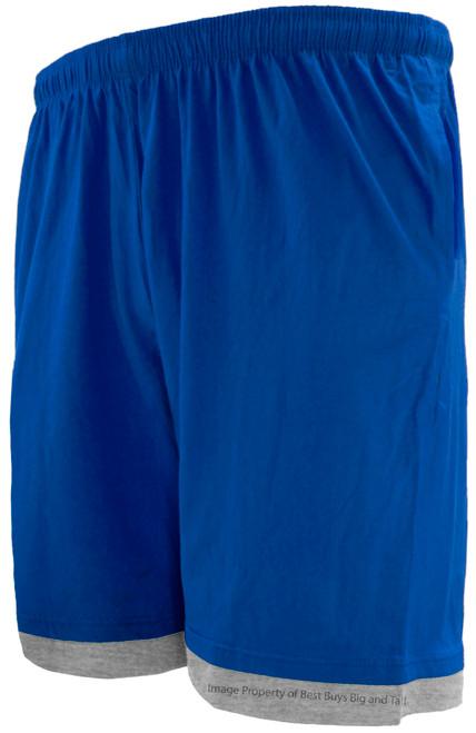 Greystone Two-Tone Jersey Shorts ROYAL/Gray