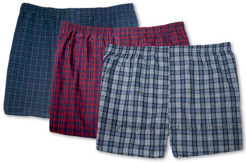 Hanes Woven BOXERS 3-Pack Underwear Plaids