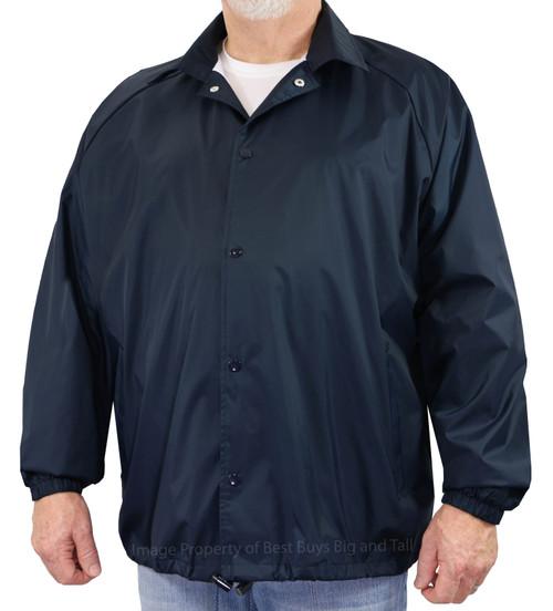 Navy ROCXL Coach's Windbreaker Jacket with Lining