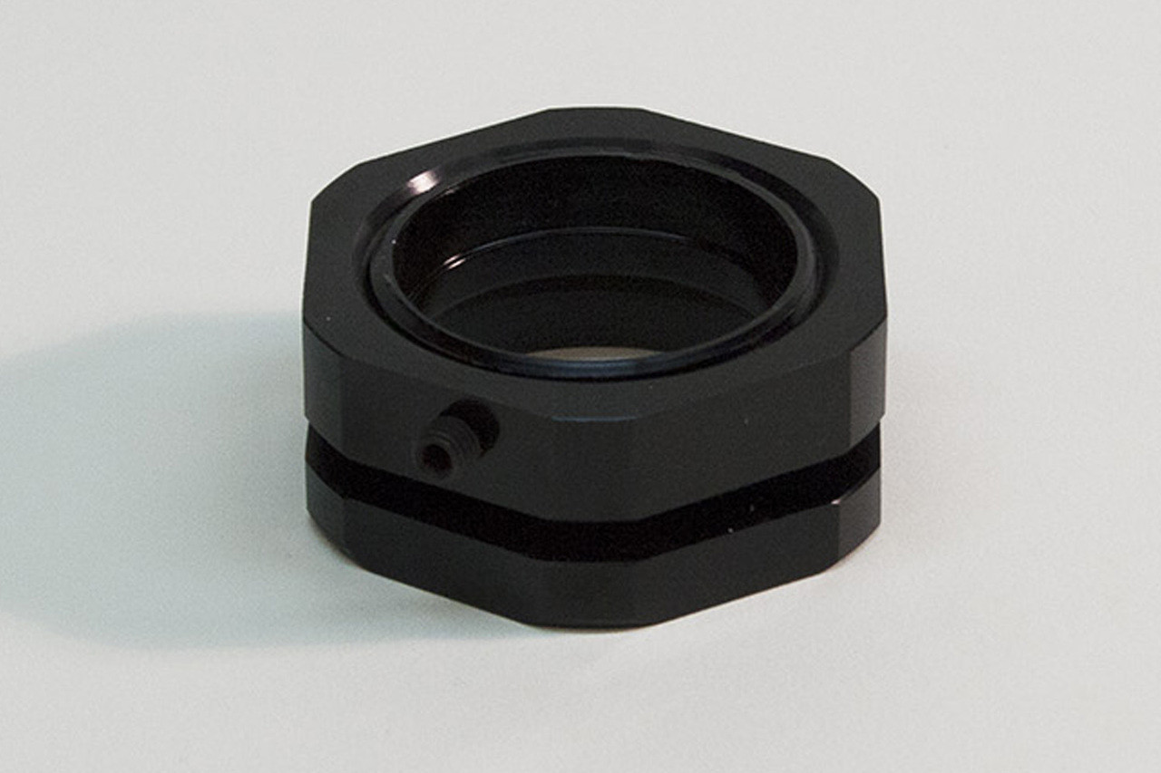 4120487 - Valve Cover Breather Adapter, Modular Billet Aluminum, O-Ring  Seals, for 1 5in ID Hole, Black Anodized