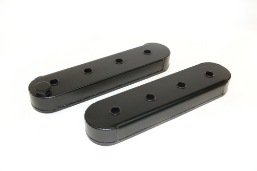 4034627 - GM LS Series Racing Valve Covers, Without Coil Stand Offs, Modified for Racing Rockers, Black, Pair