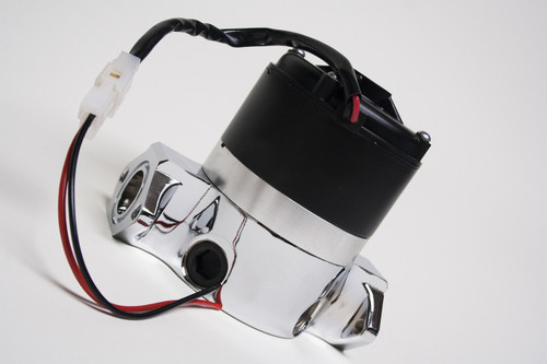 4494499 - High Flow Electric Racing Water Pump Motor, Chrome, Incl. Fasteners, O-Rings, Pig Tail
