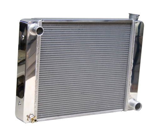 5401928 - GM Racing Radiator, Polished End Tanks and Top Cover, Multiple Mounting Bungs, Incl. Drain petcock - 19in x 28in
