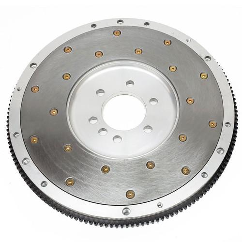 1940000 FLYWHEEL, SFI BILLET ALUM, 6061 T-6, CHEV SB 383-400 1970-85 , Ext Bal, 153T, 1045 Steel Friction Plate