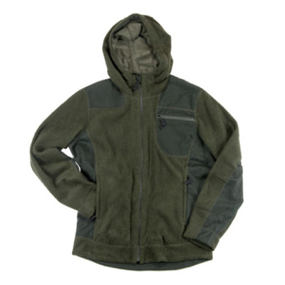Wool Fleece Hooded Jacket