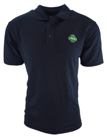 MCG Mens Navy Cotton Logo Polo