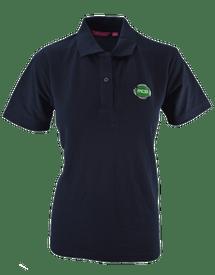 MCG Womens Navy Cotton Logo Polo