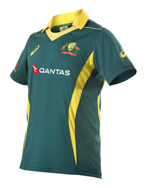 Cricket Australia 2017-18 Mens Replica ODI Away Shirt Green
