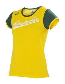 Cricket Australia 2017-18 Womens Supporter Tee Yellow
