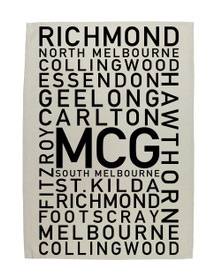 MCG Text Tea Towel - VFL Teams