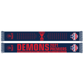Melbourne Demons 2021 Premiers Scarf