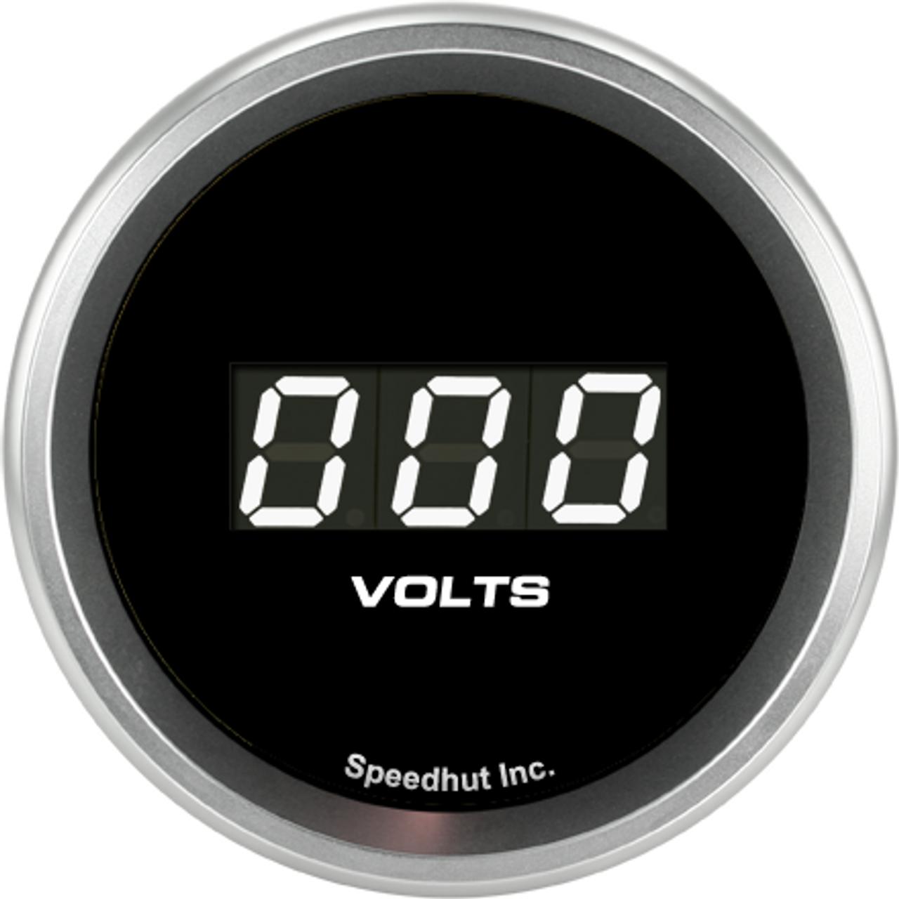 """2-1/16"""" Volt Digital Gauge 6-18V"""