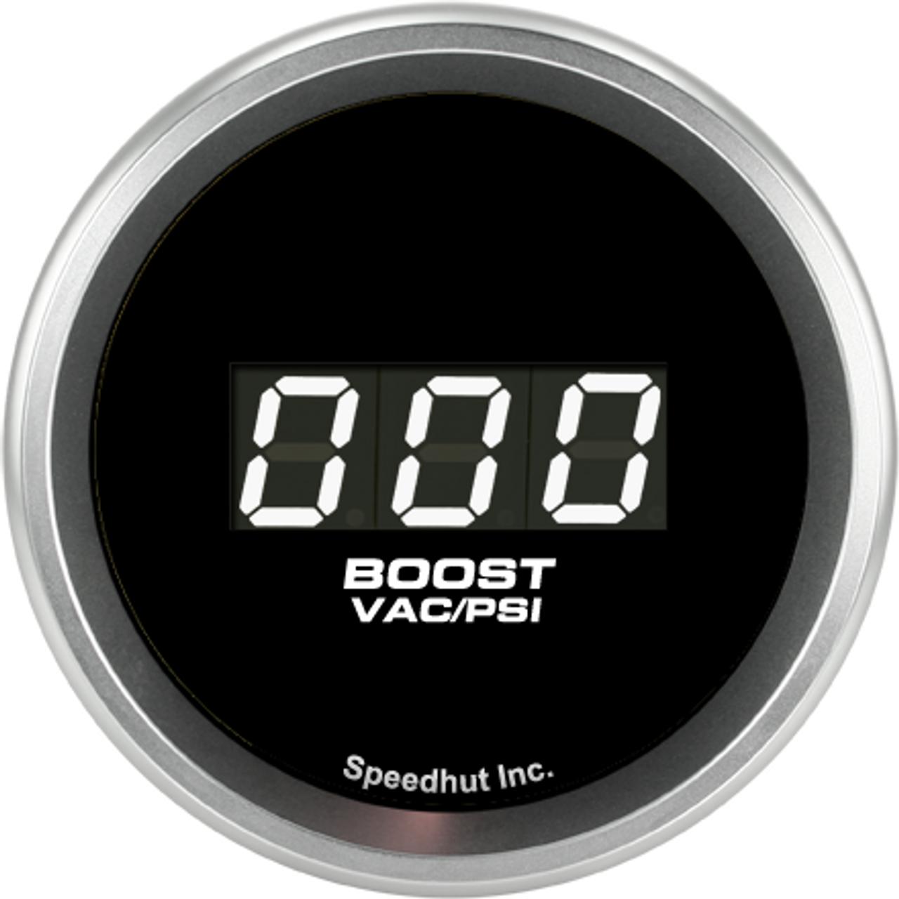 "2-1/16"" Boost/Vac Digital Gauge 30inhg-0-30psi"