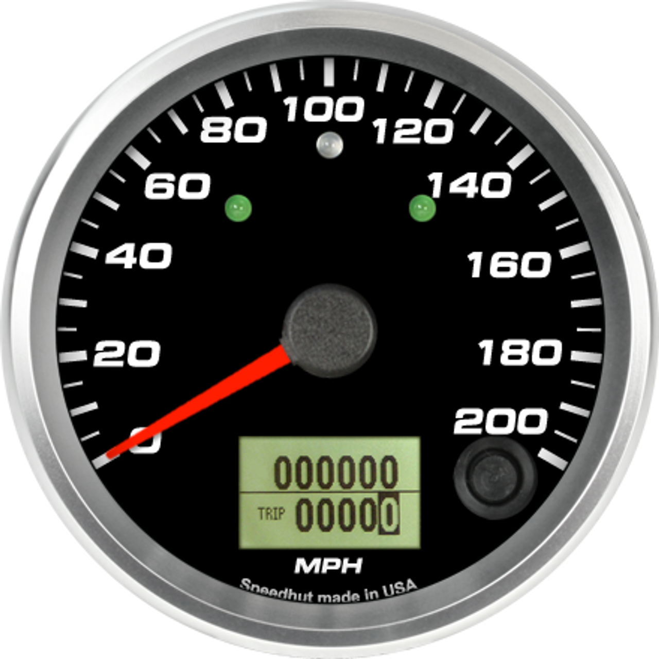 """3-3/8"""" Speedometer 200mph programmable (w/ turn signal and high beam)"""