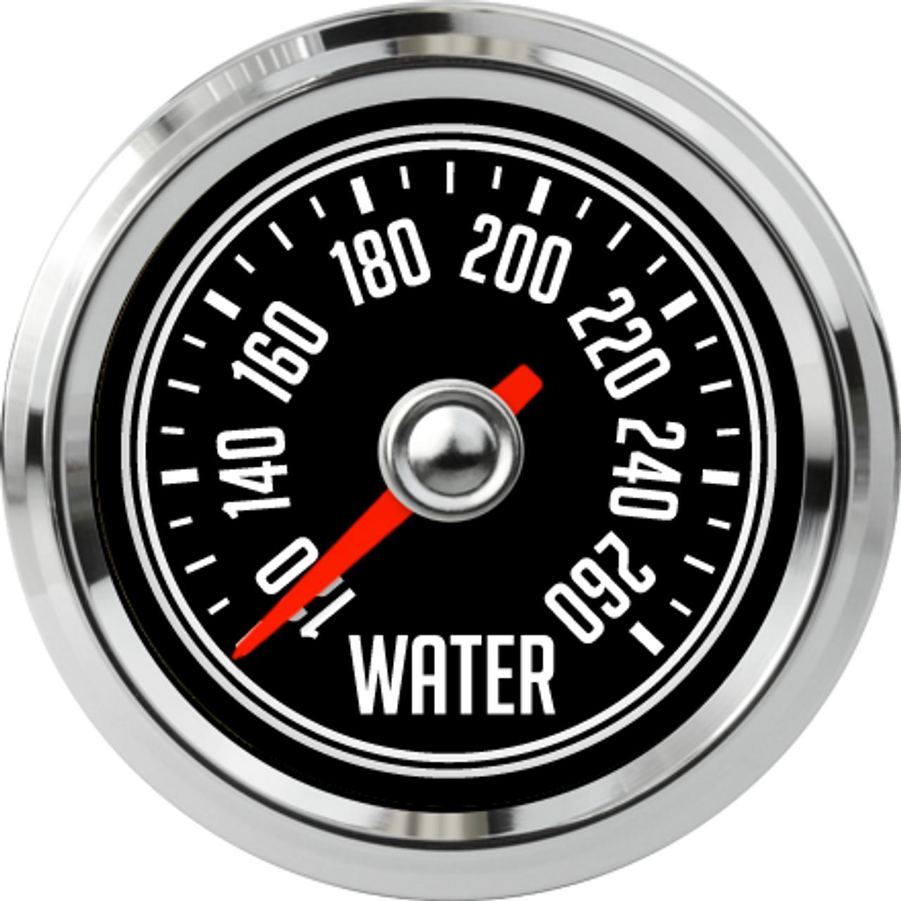 """2-1/16"""" CJ Jeep Water Temp Gauge 120-260F"""