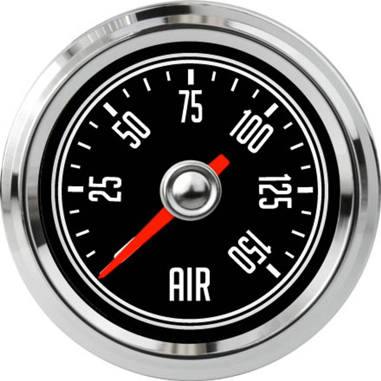 "2-1/16"" CJ Jeep Air Pressure Gauge 0-150 psi"