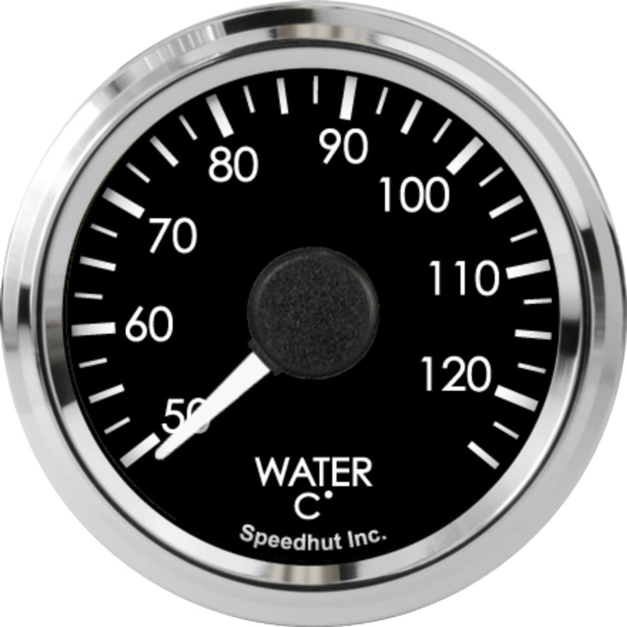 "2-1/16"" Freedom CAN-BUS Water Temp Gauge 50-125C Metric"