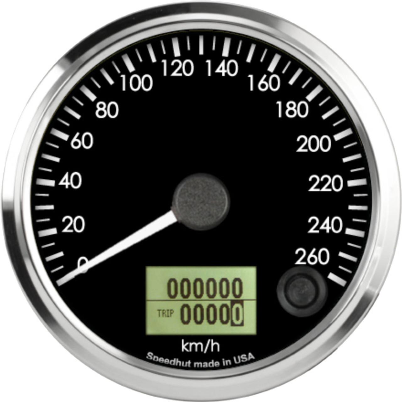 "3-3/8"" Freedom CAN-BUS Speedometer 260 km/h Metric"