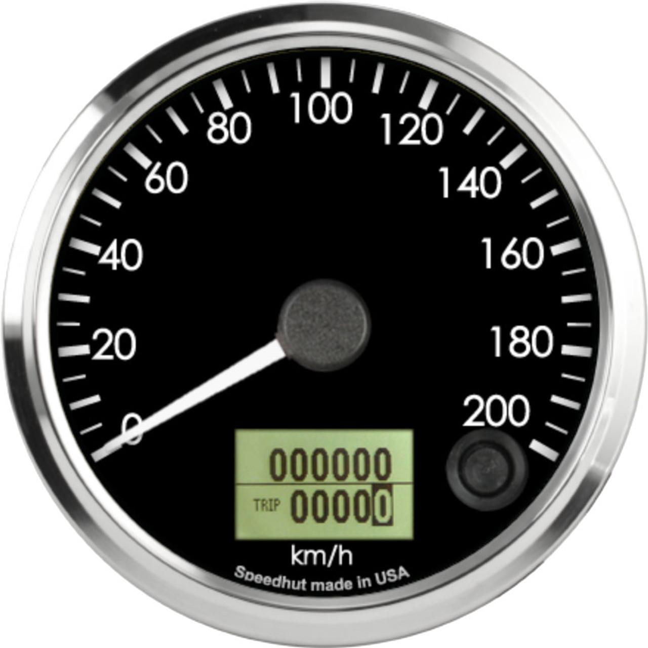 "3-3/8"" Freedom CAN-BUS Speedometer 200 km/h Metric"
