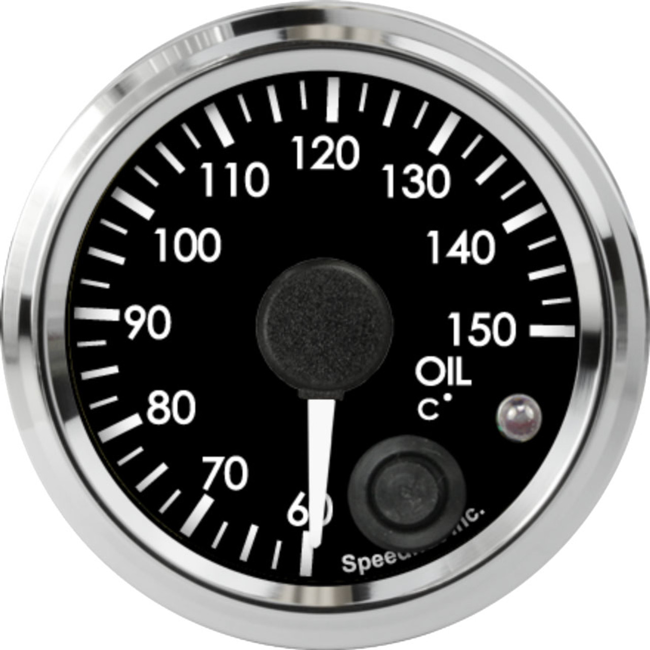 """2-1/16"""" Freedom CAN-BUS Oil Temp Gauge 60-150C Metric (w/ warning) (For GM vehicles only)"""