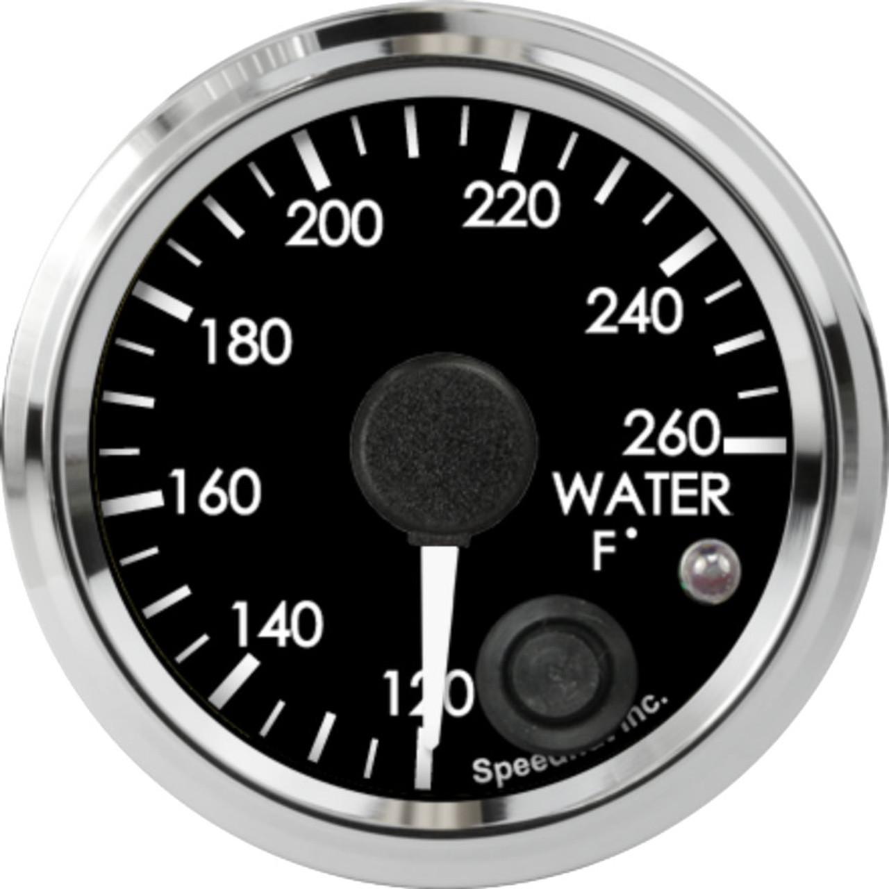 "2-1/16"" Freedom CAN-BUS Water Temp Gauge 120-260F (w/ warning)"