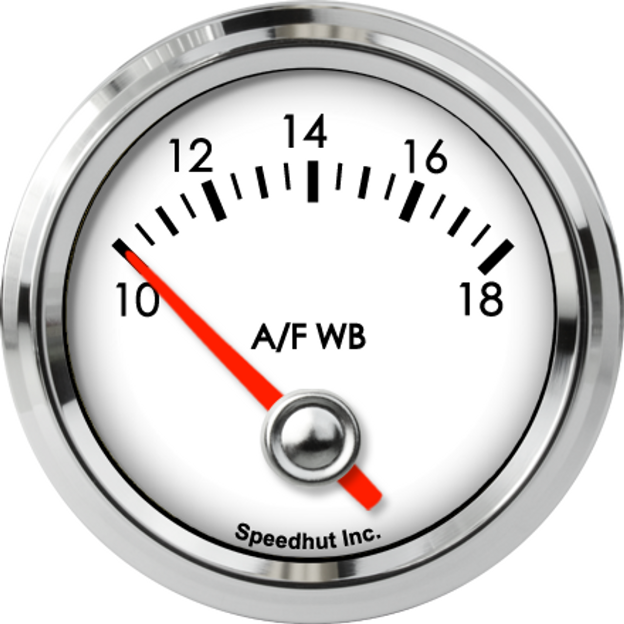 """2-1/16"""" Classic Air/Fuel Gauge Wide Band 10-18 (FOR PLX) (90 Degree Sweep)"""