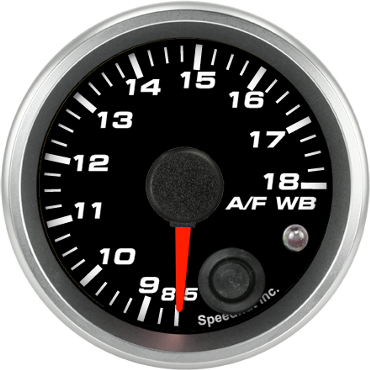 """2-1/16"""" Standalone Air/Fuel Wideband with Analog Out, O2 gauge 8.5-18 (w/ warning)"""