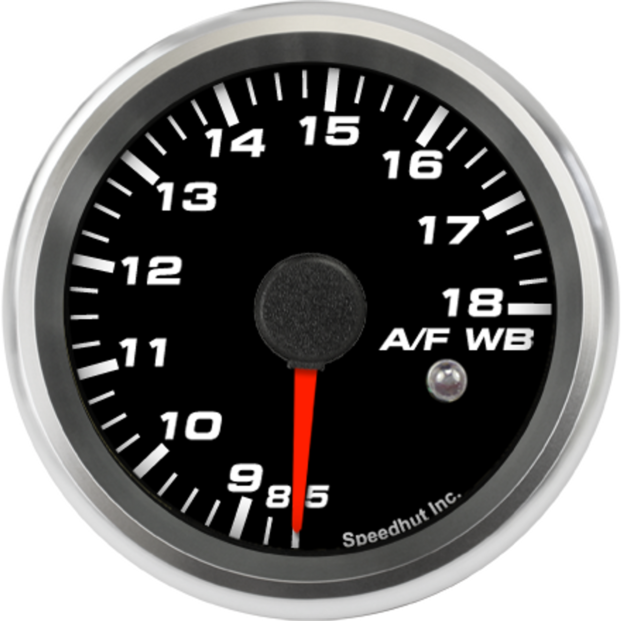 """2-5/8"""" Standalone Air/Fuel Wideband with Analog Out, O2 gauge 8.5-18 (w/ warning)"""